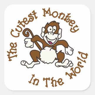 最もかわいい猿 スクエアシール