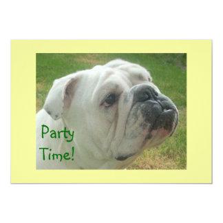 最もかわいい英国のブルドッグのパーティの招待状 カード