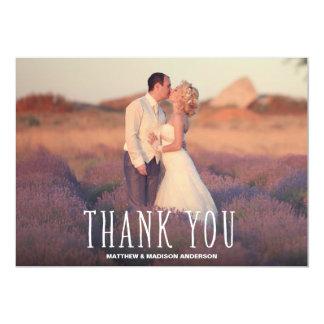 最もかわいい|ありがとう|結婚|感謝していして下さい||写真|カード 12.7 X 17.8 インビテーションカード