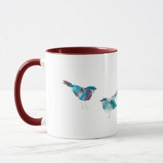 最もかわいいTwitterの青の鳥 マグカップ