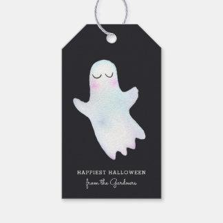 最もかわいく小さい幽霊ハロウィン ギフトタグ