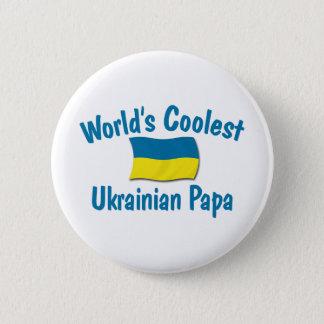 最もクールなウクライナのパパ 缶バッジ