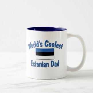 最もクールなエストニア語のパパ ツートーンマグカップ