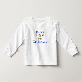 最もクールなクリスマスの長袖のワイシャツの素晴らしいトレンディー トドラーTシャツ