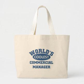 最もクールなコマーシャルマネージャー ラージトートバッグ
