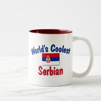 最もクールなセルビア人 ツートーンマグカップ