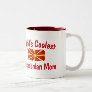 最もクールなマケドニアのお母さん ツートーンマグカップ