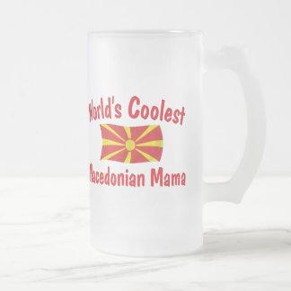 最もクールなマケドニアのママ フロストグラスビールジョッキ