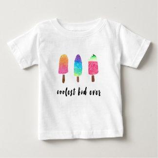 最もクールな子供のカラフルな水彩画のアイスキャンデー ベビーTシャツ