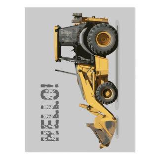 最もクールな建築の掘削機の坑夫 ポストカード