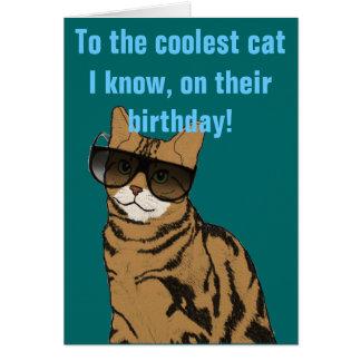 最もクールな猫の誕生日 カード