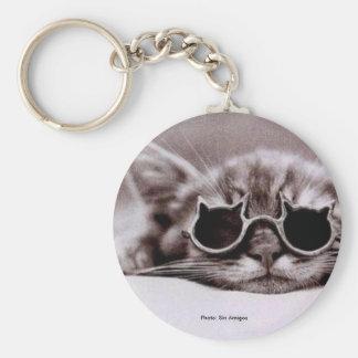 最もクールな猫生きたKeychain キーホルダー