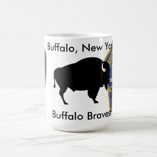 最も勇敢なバッファロー コーヒーマグカップ