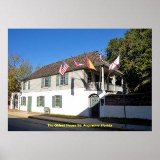 最も古い家セントオーガスティンFlo… ポスター