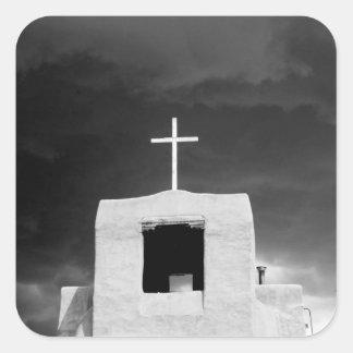 最も古い教会、サン・ミゲル、サンタフェで交差させて下さい、 スクエアシール