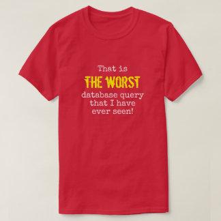 """""""… 最も悪いデータベースの問い合わせ… """" Tシャツ"""