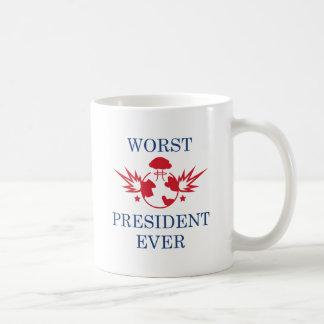 最も悪い大統領 コーヒーマグカップ