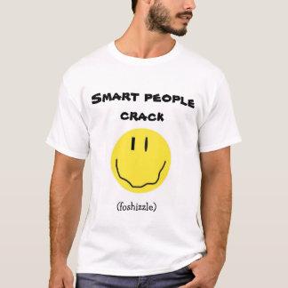 最も新しく頭が切れるな人々のひび Tシャツ