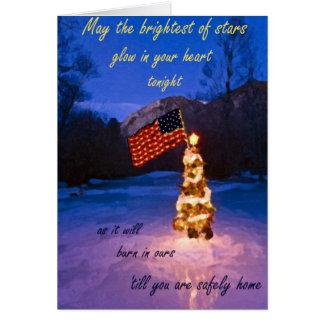 最も明るい星のクリスマスカード カード
