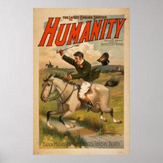 最も最近の英国の成功の人間性のヴィンテージポスター ポスター