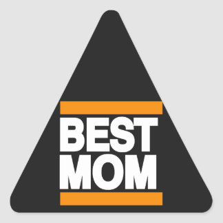 最も最高のなお母さんのオレンジ 三角形シール