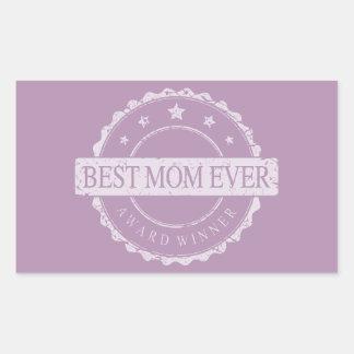 最も最高のなお母さんのグランジな常に勝者賞- 長方形シール
