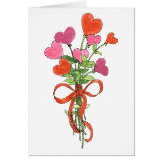 最も最高のなお母さんのハートの花束の母の日カード カード
