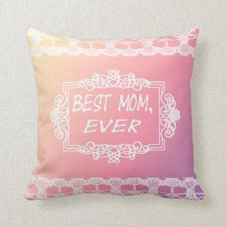 最も最高のなお母さんのピンクのパステル調の母の日のギフト クッション