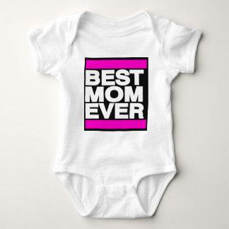 最も最高のなお母さんのピンク ベビーボディスーツ