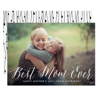 最も最高のなお母さんの原稿|の母の日カード 12.7 X 17.8 インビテーションカード