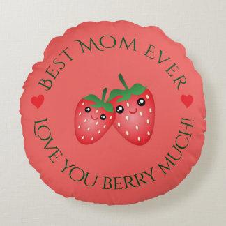 最も最高のなお母さんの母の日愛大いに果実 ラウンドクッション