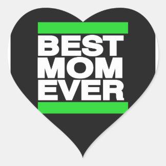 最も最高のなお母さんの緑 ハートシール
