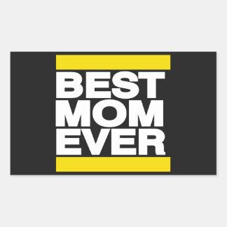 最も最高のなお母さんの黄色 長方形シール