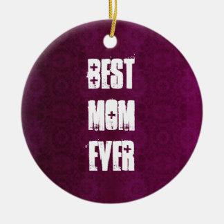 最も最高のなお母さんはヴィンテージのワインレッドのギフトセットの音を弱めました セラミックオーナメント
