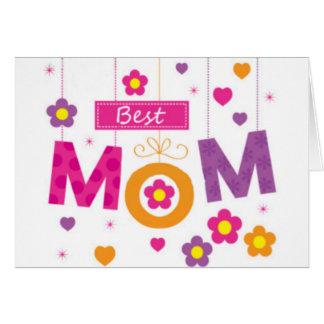 最も最高のなお母さん グリーティングカード