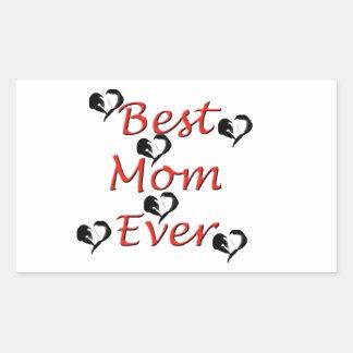最も最高のなお母さん 長方形シール