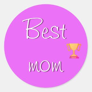 最も最高のなお母さんEmoji ラウンドシール