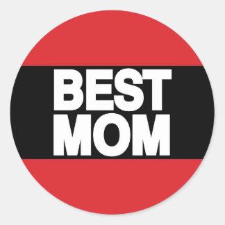 最も最高のなお母さんLgの赤 ラウンドシール