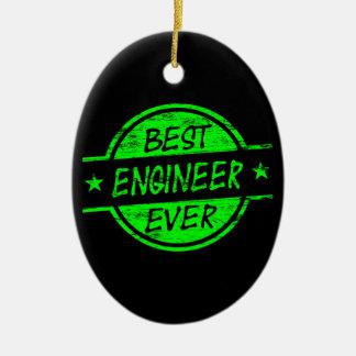 最も最高のなエンジニアの緑 セラミックオーナメント
