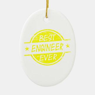 最も最高のなエンジニアの黄色 セラミックオーナメント