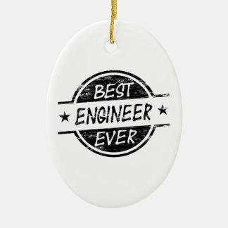 最も最高のなエンジニアの黒 セラミックオーナメント
