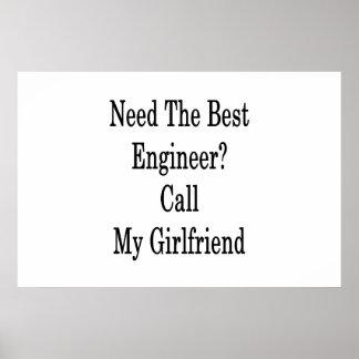 最も最高のなエンジニア呼出しを私のガールフレンド必要として下さい ポスター