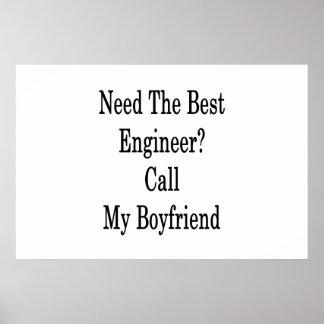 最も最高のなエンジニア呼出しを私のボーイフレンド必要として下さい ポスター