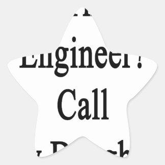最も最高のなエンジニア呼出しを私の娘必要として下さい 星シール