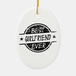 最も最高のなガールフレンドの黒 セラミックオーナメント