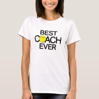 最も最高のなコーチのカスタムなソフトボールのコーチのTシャツ Tシャツ