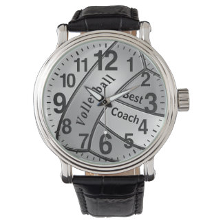 """""""最も最高のなコーチ""""のためのカスタマイズ可能なバレーボールの腕時計 腕時計"""