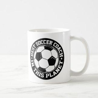 最も最高のなサッカーのコーチ コーヒーマグカップ