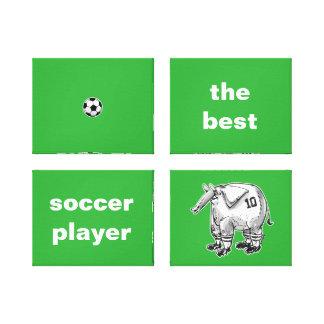 最も最高のなサッカーの選手象の漫画のスタイル キャンバスプリント