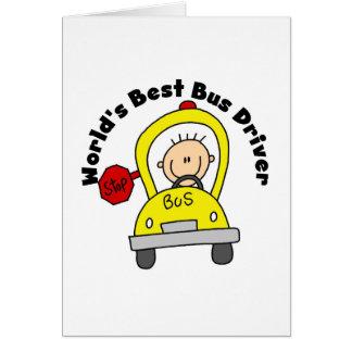 最も最高のなバス運転手 グリーティングカード